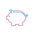 line nice pig design to save money vector image vector image