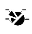 market analysis black icon sign on vector image vector image