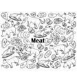 Meat colorless set vector image