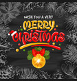 merry christmas background with christmas ball vector image