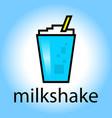 milkshake drink beverage smoothie cartoon color vector image vector image