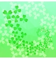 Patricks day background in green colors vector image vector image