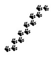 paw logo or cat and dog animal pet paw vector image vector image