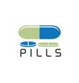 pills design template vector image vector image