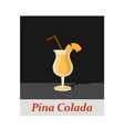 pina colada cocktail menu item or any kind of vector image vector image