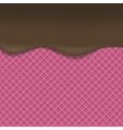 Pink Wafer background vector image vector image