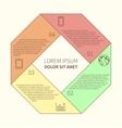 Polygonal infographic diagram vector image vector image