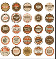 premium quality retro badges vector image vector image