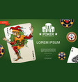 realistic poker template vector image