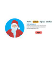 santa claus face avatar portrait merry christmas vector image