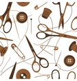seamless background pattern sewing accessories vector image