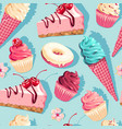 seamless pattern with high detail sweets vector image