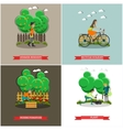 set of gardening concept posters banners vector image vector image