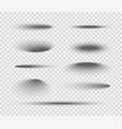 shadow ball circle round bottom floor vector image