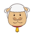 sheep animal cartoon vector image vector image