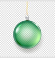 shining glass green christmas bauble isolated on vector image vector image