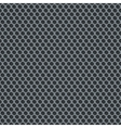 Silver metallic grid background pattern vector image vector image