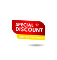 special discount limited edition label template vector image vector image