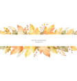 watercolor autumn banner leaves and vector image vector image
