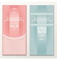 Set of vintage wedding invitations vector image
