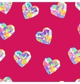 Valentine red diamond seamless pattern vector image