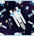 shuttle satellites moon rover and deep space with vector image