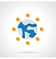 Globalization flat color design icon vector image