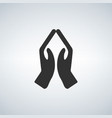 hands praying icon vector image