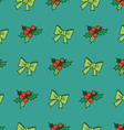 Nice seamless pattern with snowflakes and christma vector image