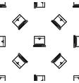 3d printer model pattern seamless black vector image vector image