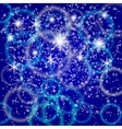 abstract blue background with bokeh and particles vector image vector image