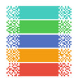 abstract pixel web banners for headers vector image