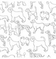 awesome seamless pattern with cartoon dogs vector image vector image