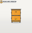 Beehive line vector image