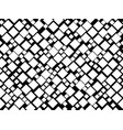 black and white seamless pattern with squares vector image vector image