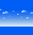 blue sky and cloud draw fresh day background vector image vector image