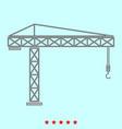 building crane it is icon vector image vector image