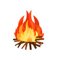 burning bonifire element of stone age vector image