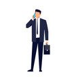 businessman in a flat style isolated vector image vector image