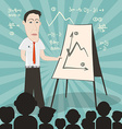Businessman on Conference with Audience vector image