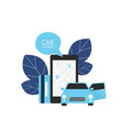 carsharing renting car mobile app vector image