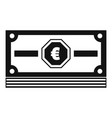 cash money icon simple black style vector image