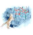 cat and santas vector image vector image