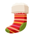 Christmas sock icon cartoon style vector image vector image