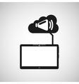 cloud device speaker media apps graphic vector image vector image