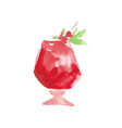 cocktail alcohol mixed drink colorful hand drawn vector image