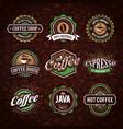 coffe logo collection vector image