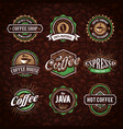 coffee logo collection vector image vector image