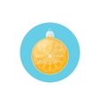 Colorful Icon Christmas Yellow Ball with Snowflake vector image vector image