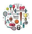 colorful poster of sports lifestyle with sports vector image vector image